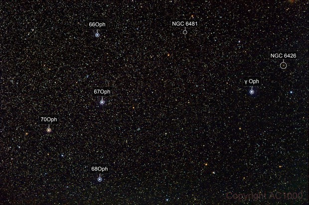 The cross in Ophiuchus