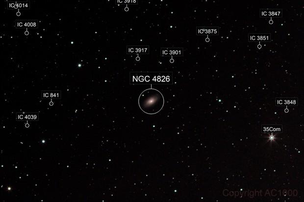 Messier 64 - wide field