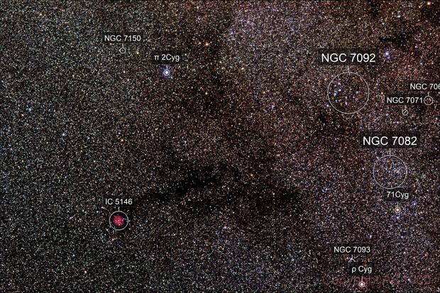 Cocoon Nebula + Messier 39