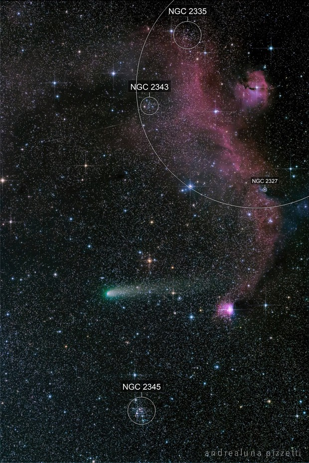 comet 21P/Giacobini-Zinner and IC 2177 in Monoceros