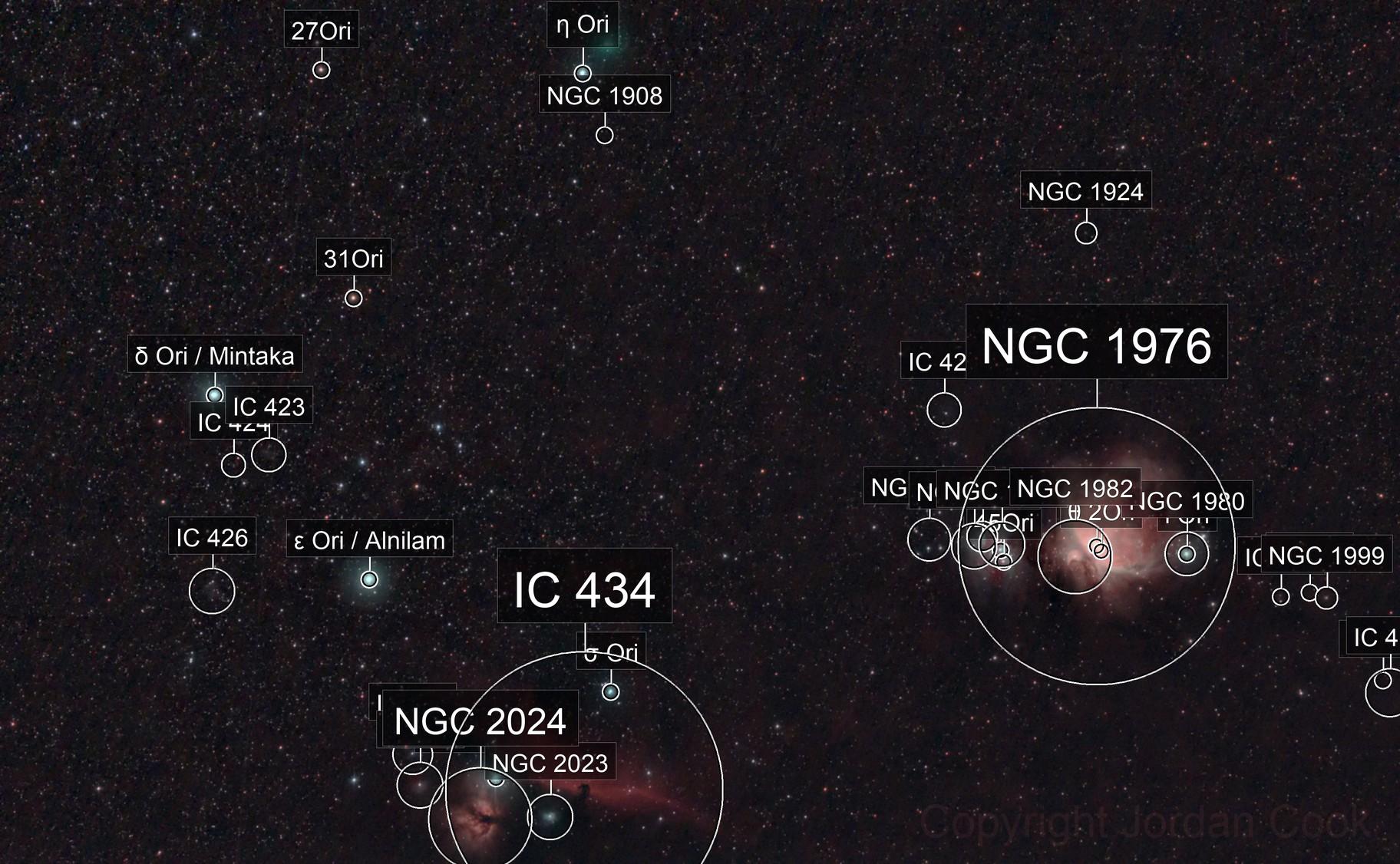 Orion's Belt and Comet Atlas