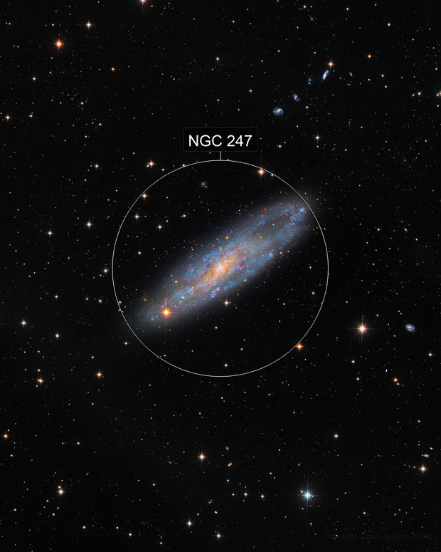 NGC 247, Spiral Galaxy in Cetus