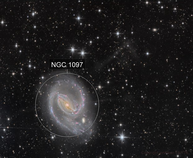 Ngc 1097 and jet of matter