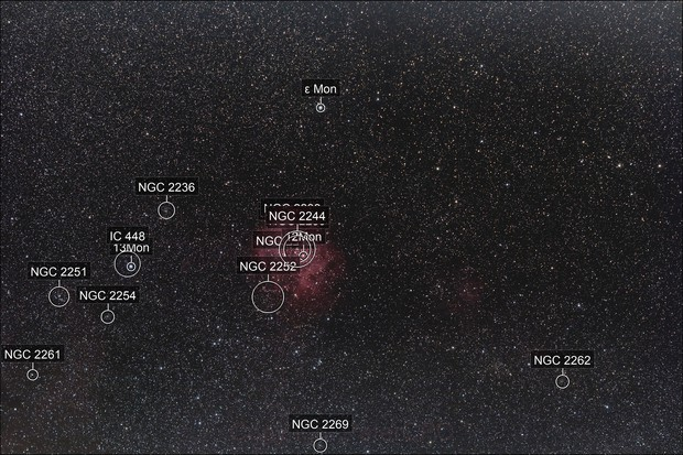Rosette Nebula Widefield with Samyang 135mm lens