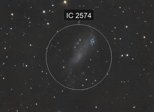 Coddington's Nebula IC 2574 In Ursa Major LRGB.