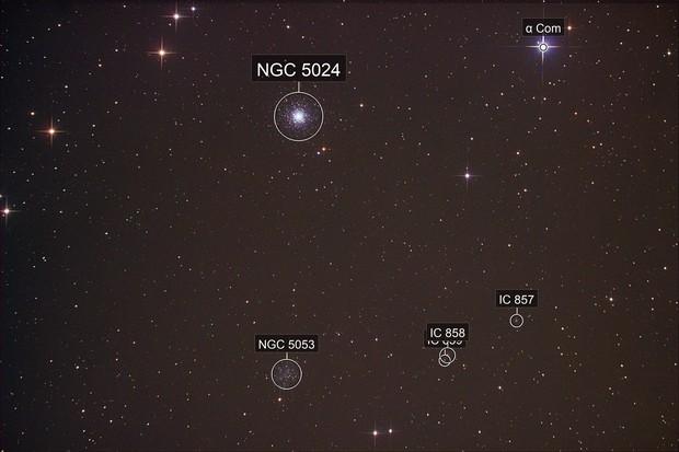 NGC 5024/M53 + NGC 5053