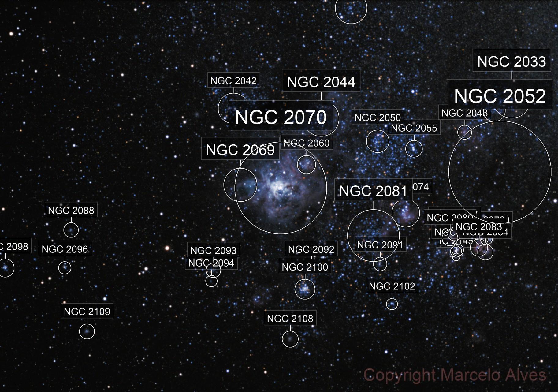 NGC2070 - Tarantula Nebula in LMC