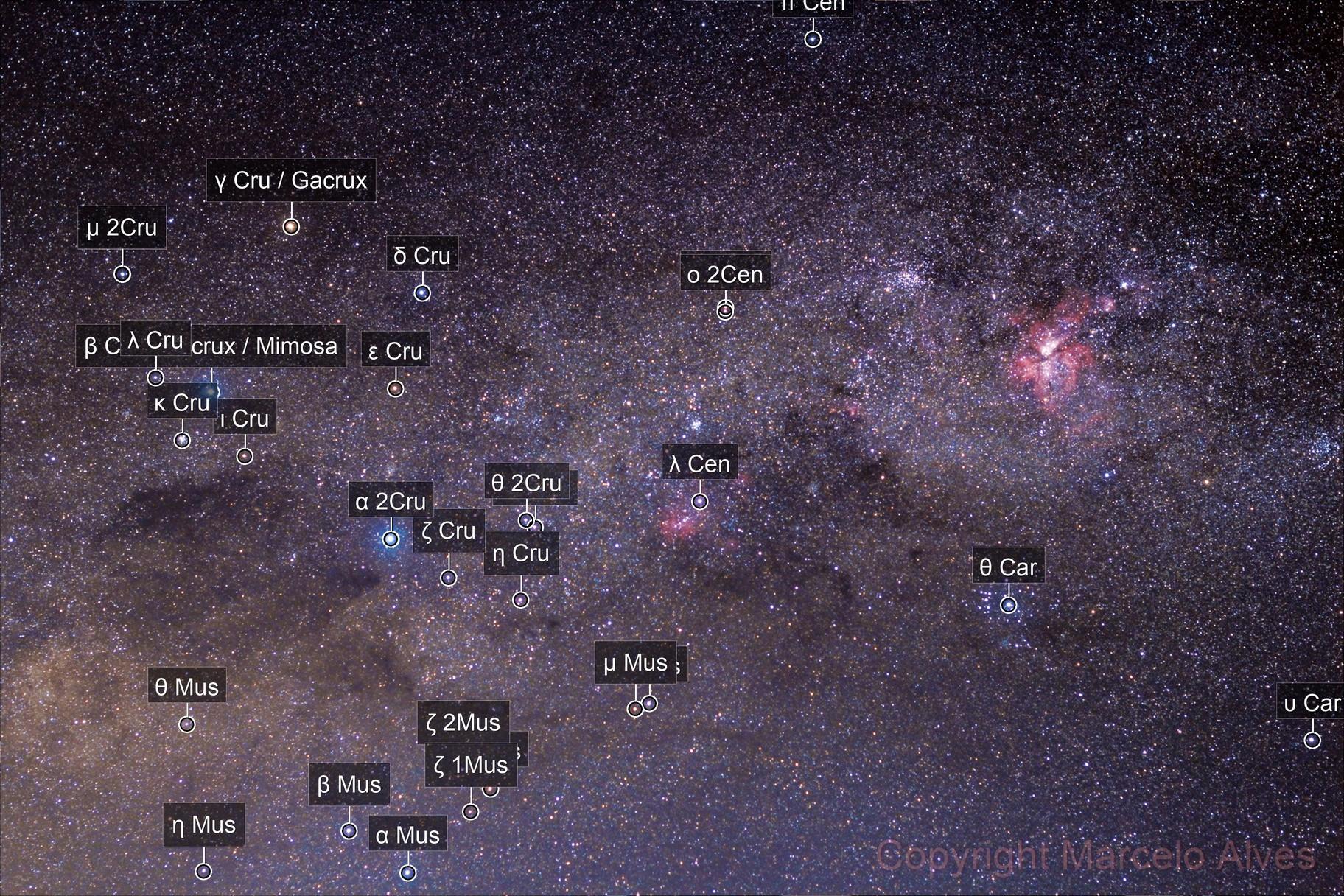 First try with Sky Tracker Pro -  Crux & Eta Carinae Nebula region