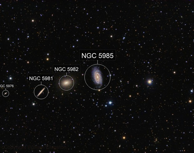 NGC5985 and Friends