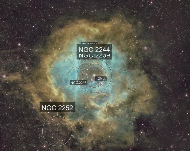 Rosette nebula NB