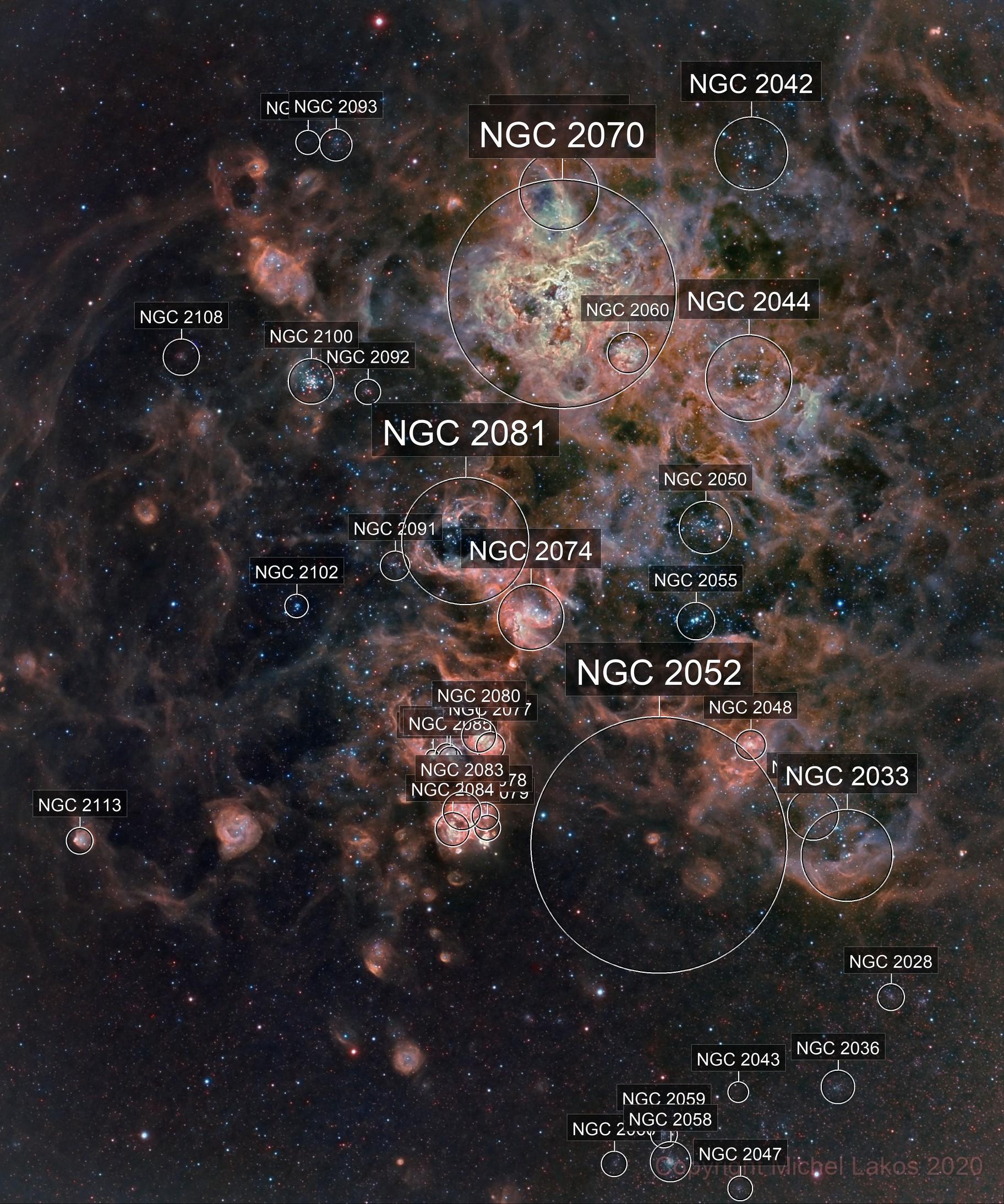 NGC 2070 Tarantula Nebula - LMC
