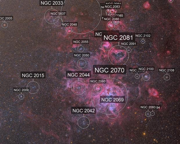 NGC 2070 - The Tarantula in True Color