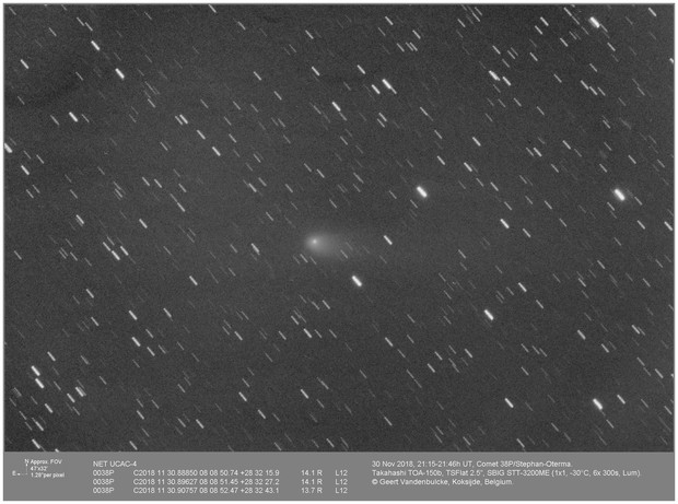 Comet  38P Stephan-Oterma, 20181130