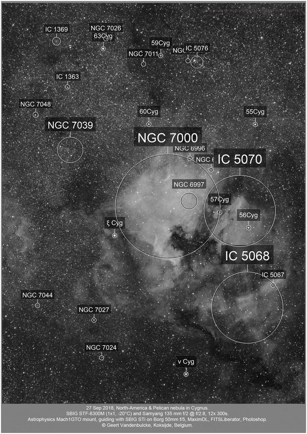 North-America and Pelican nebula, 20180927