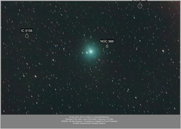 Comet 46P/Wirtanen, DSLR, 20181130