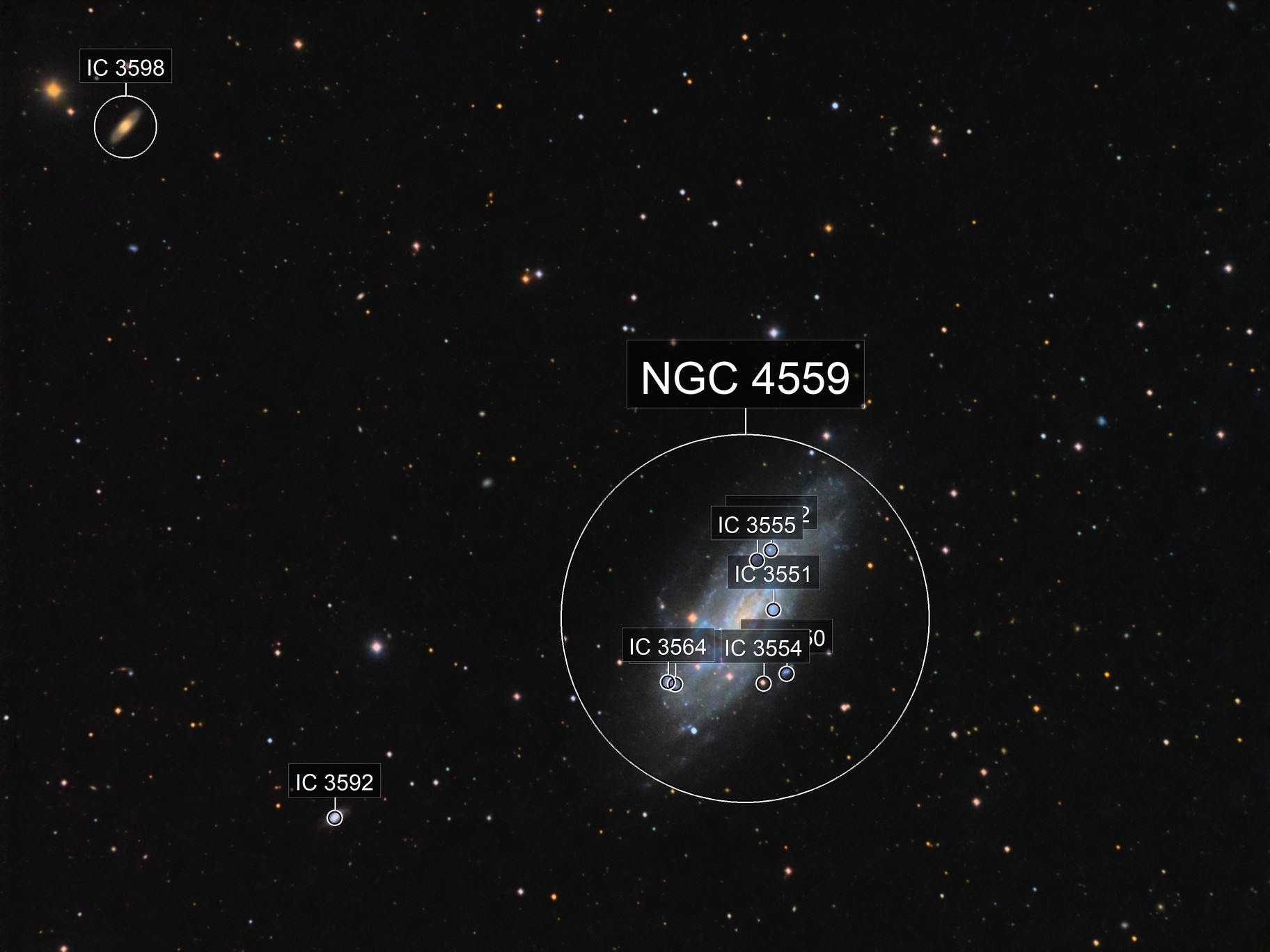 NGC 4559 in Coma Berenices