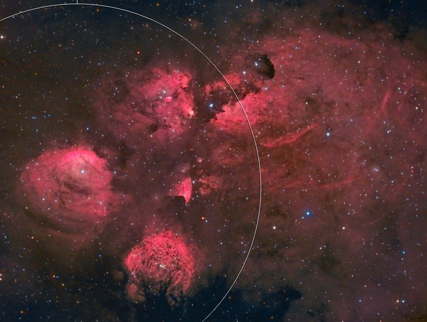 The Cat's Paw Nebula in HaRGB