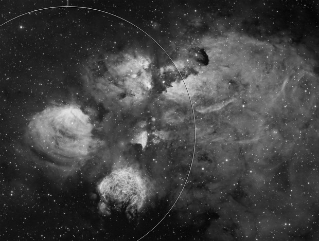 The Cat's Paw Nebula in Ha