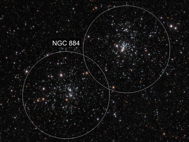 NGC-884 and -869 (Double Cluster)