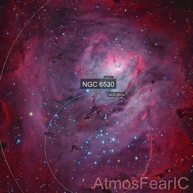 Multi-System Lagoon Nebula
