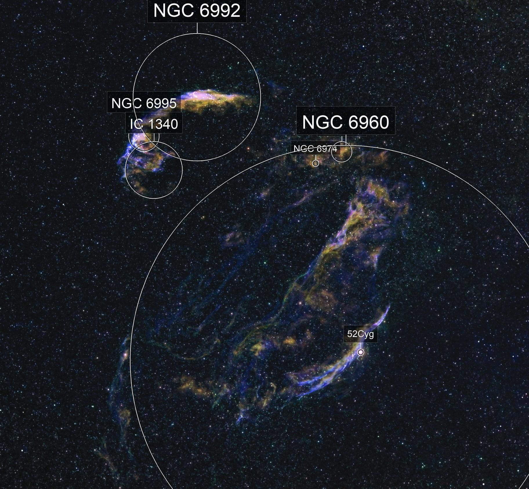 Cygnus Loop (HOS Hubble Palette)