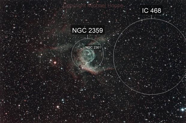 NGC 2359 Thors Helm - Thors Helmet Nebula