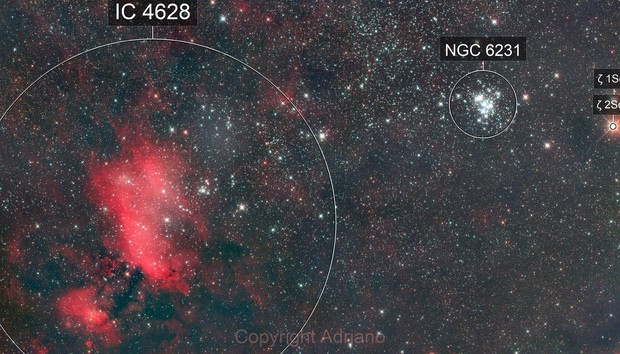 IC4628 and NGC6231