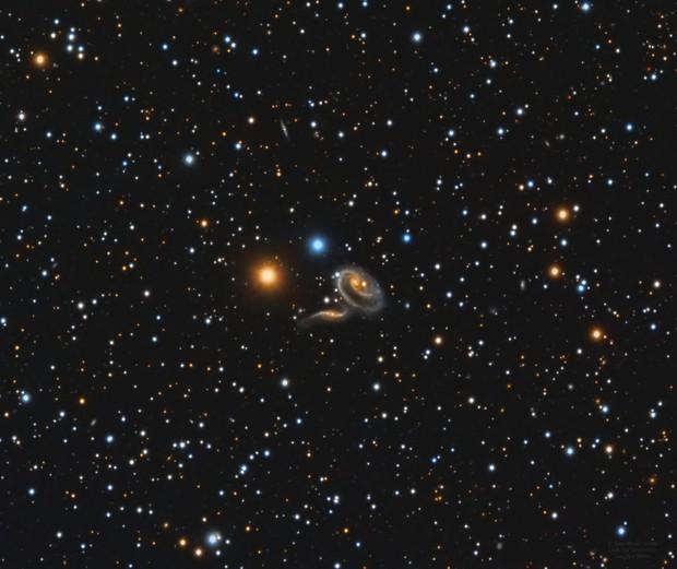Arp 273 UGC 1810 UGC 1813 Colliding Galaxies