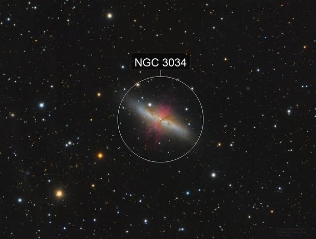 M82 Cigar Galaxy - LRGBHa