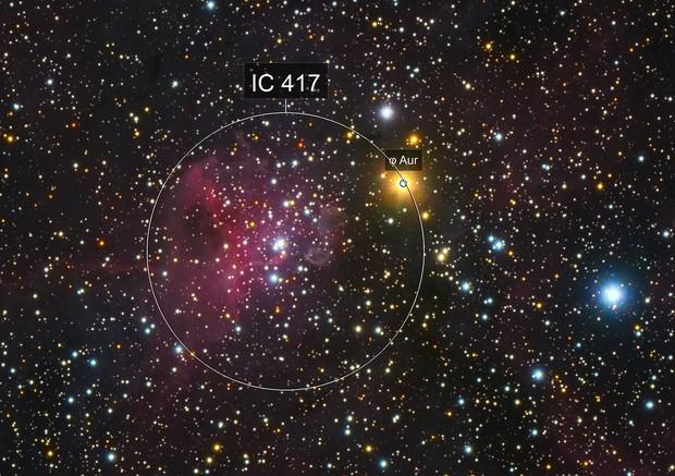IC 417 Spider Diffuse Nebula