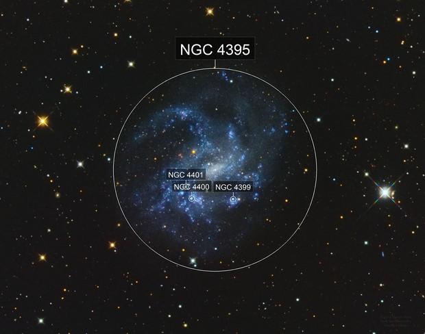 NGC 4395 Spiral Galaxy