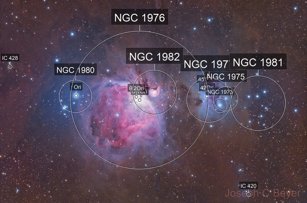 Orion and Running Man nebulas