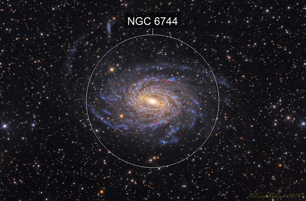 NGC 6744 – Low Surface Brightness Galaxy in Pavo Constellation