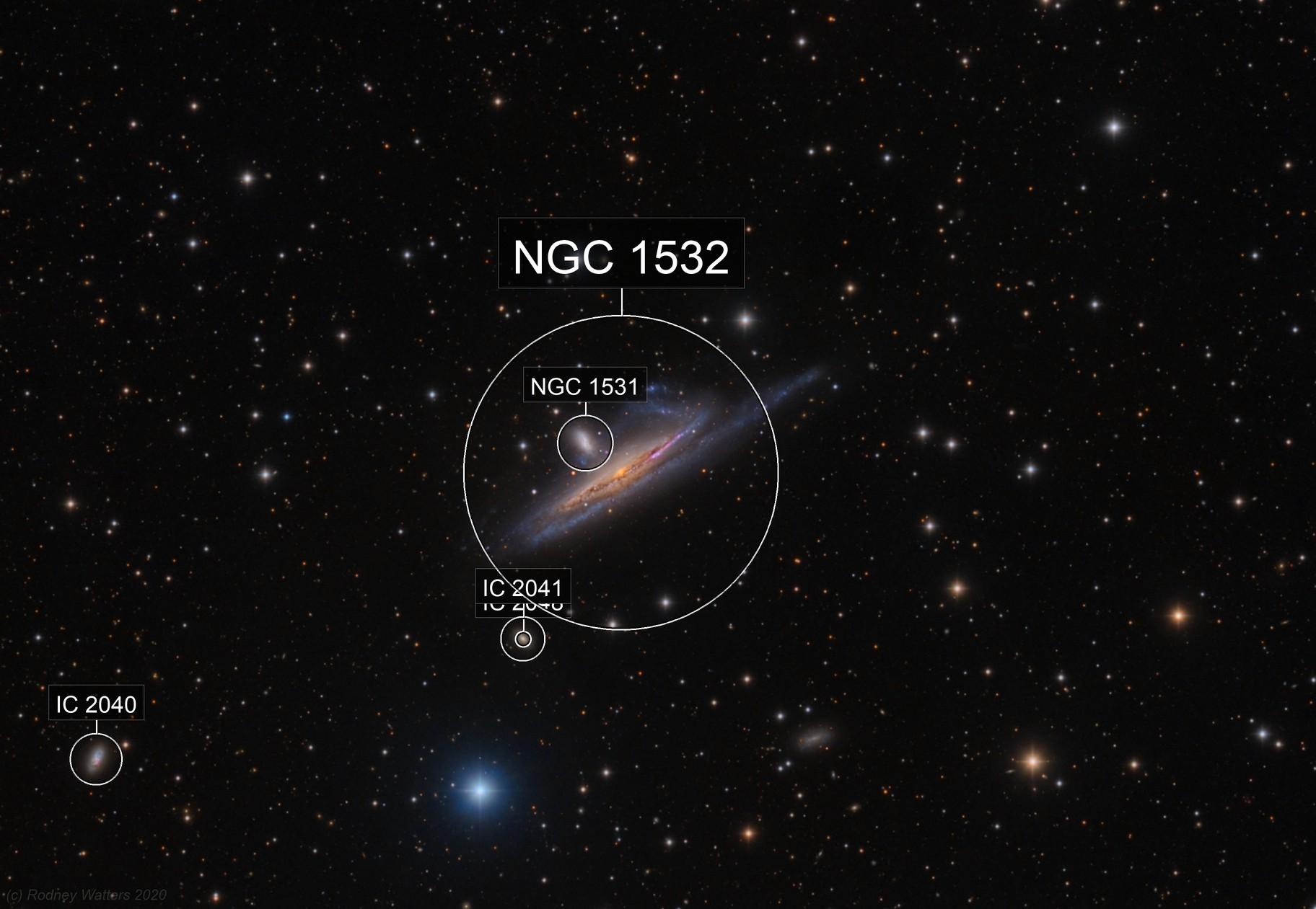 NGC1532/1 - Haley's Coronet