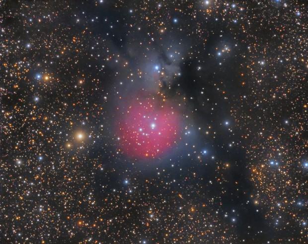 The Little Cocoon Nebula (Little Trifid Nebula), Sharpless 2-82 (Sh2-82)