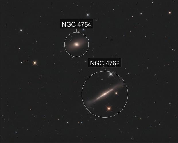 NGC4762 and NGC4754 LRGB