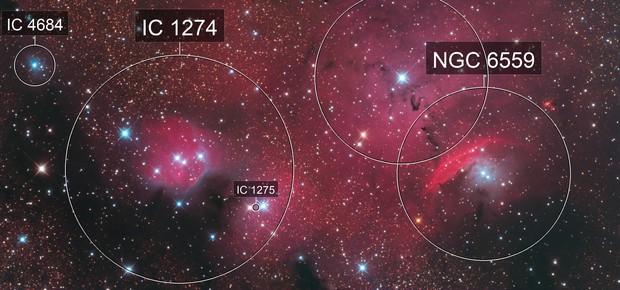 NGC6559 and IC1274 LRGB 2 Panel Mosaic