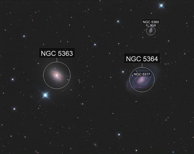 NGC5363 and NGC5364 LRGB