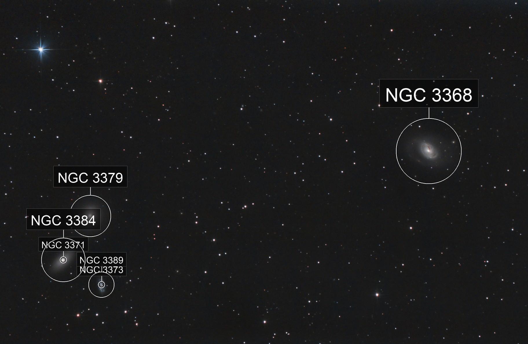 M96 Local Group and 5565 Ukyounodaibu asteroid