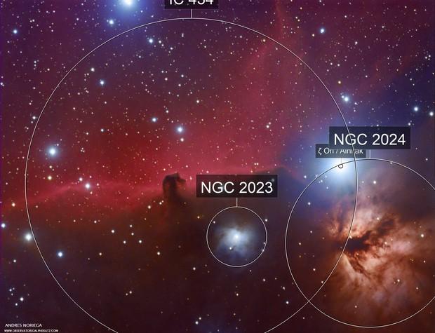 Horsehead nebula and Alnitak