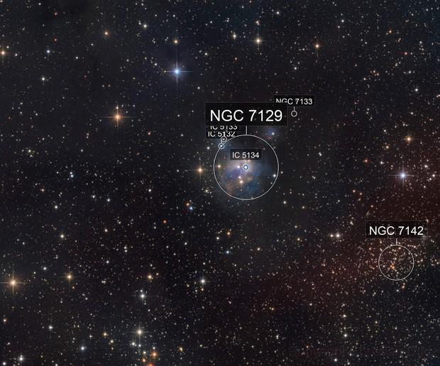 NGC 7129 with HA