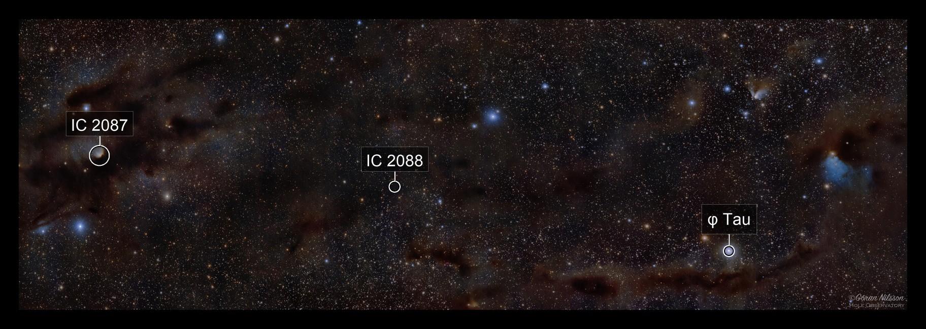 From Barnard 10 to Barnard 14 in Taurus