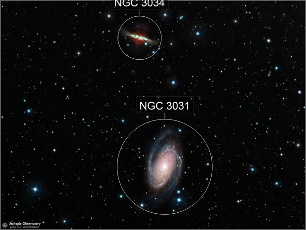 M81 and M82 Bodes Galaxy and the Cigar Galaxy
