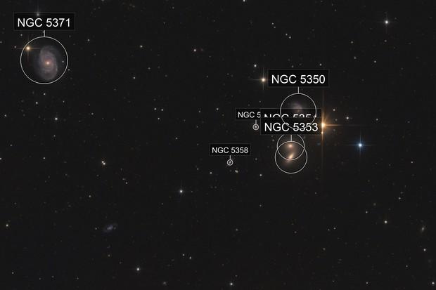"""""""Big Lick Galaxy Group"""" - NGC 5371 + HCG68"""
