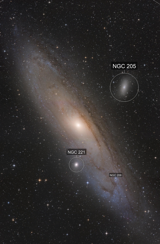 3parts mosaic of the Andromeda Galaxy