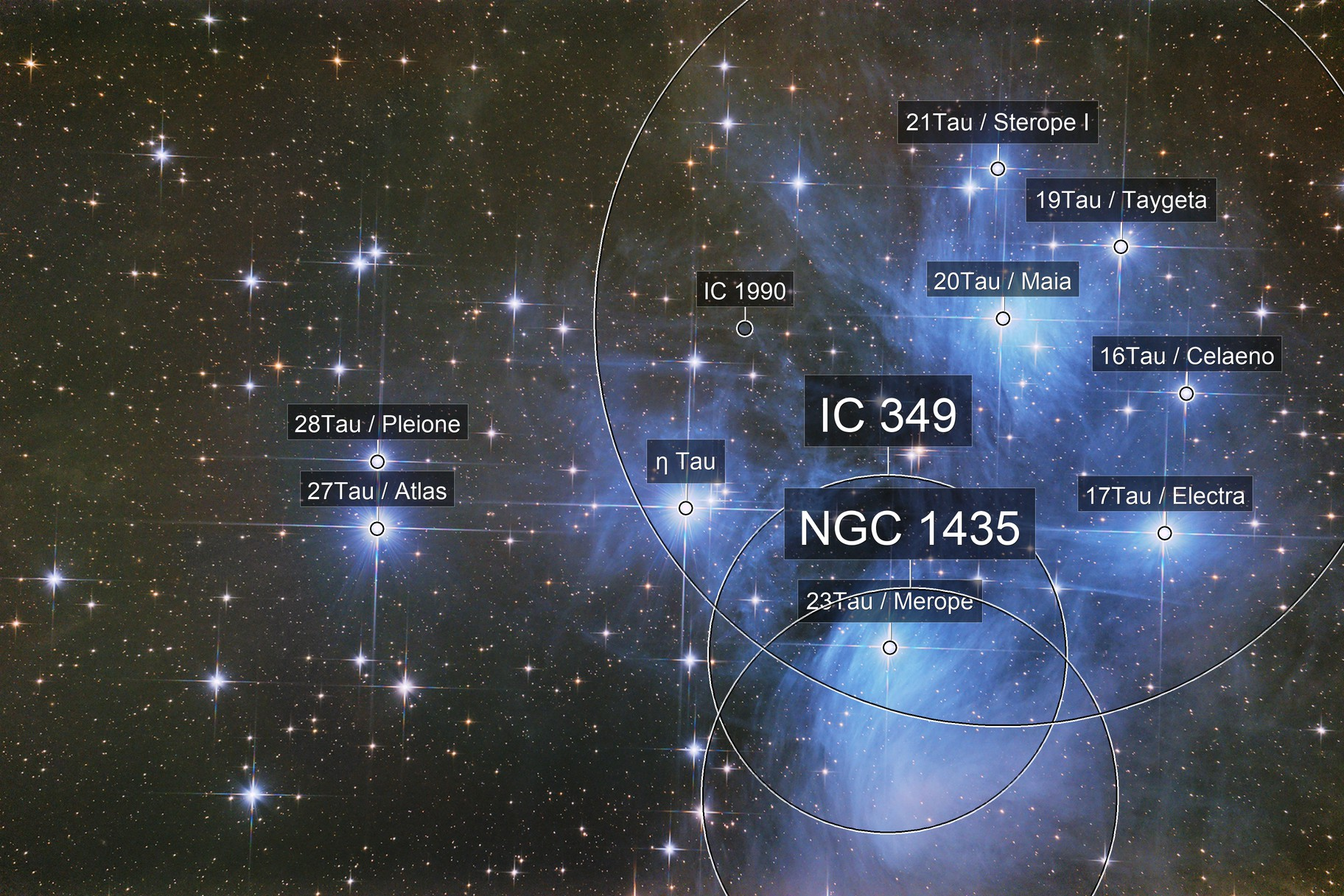 """Pleiades, the """"Seven Sisters"""" in 2020"""