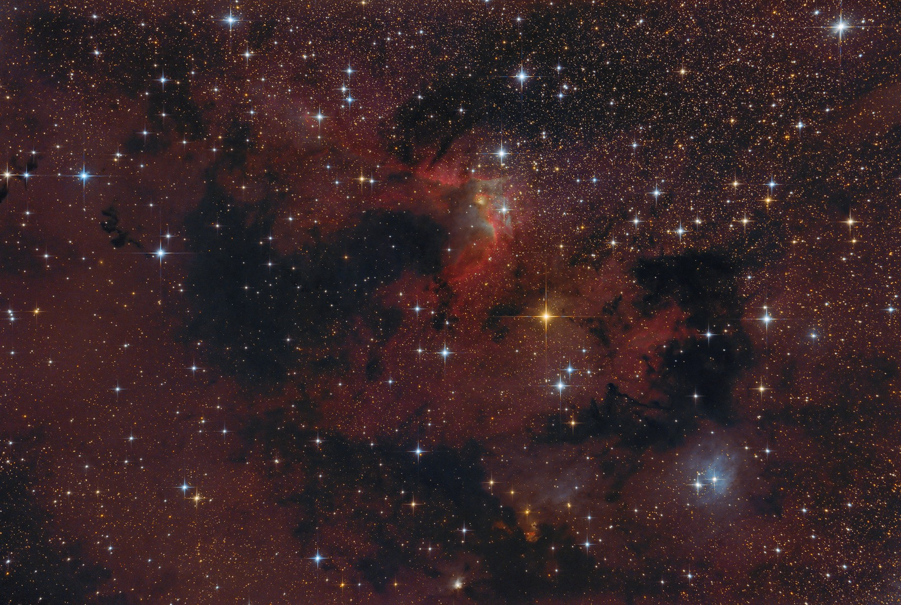 """Cave Nebula"" with modified Newtonian reflector"