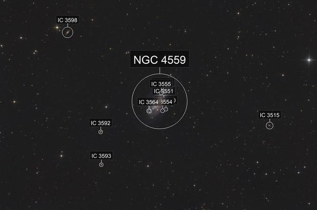 """Galaxy Season 2020 - """"Koi Fish Galaxy"""", NGC 4559 in Coma Berenices"""