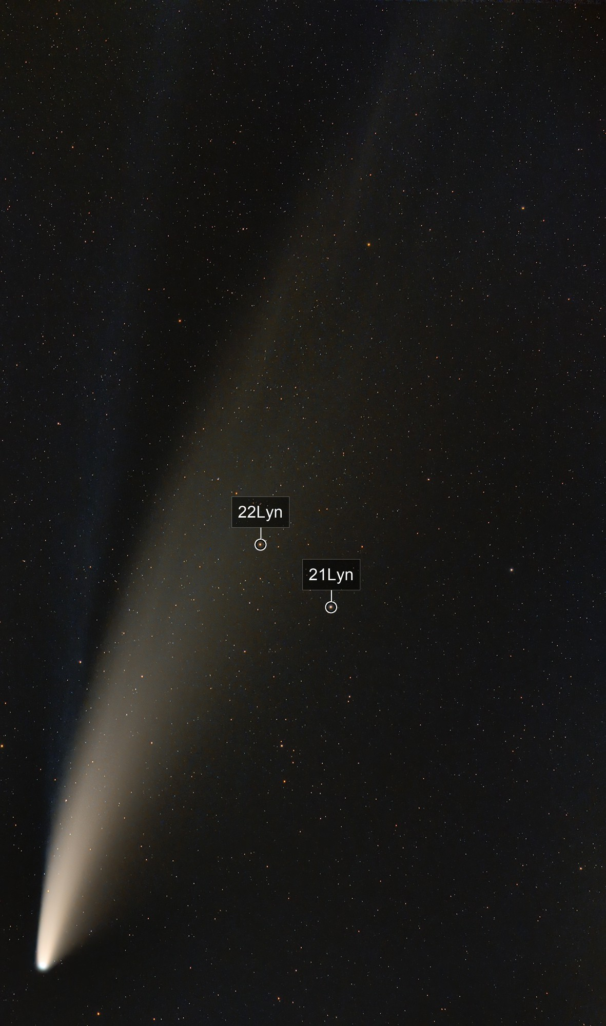 """C/2020 F3 - """"Neowise"""" on July 14th, 2020"""