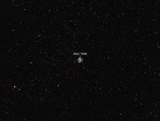 Planetary Nebula NGC7008 in Cygnus - HO